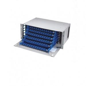 Splicing & Distribution Unit, 72 Fibra con adaptadores SC / ST / FC / LC Cumplimiento